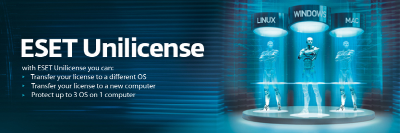 Protect all platforms with ESET Unilicense
