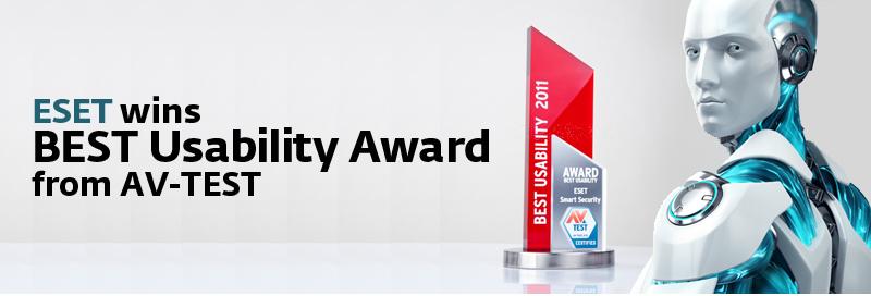 ESET Wins Best Usability Award From AV-TEST
